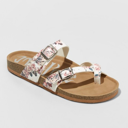 Women's Mad Love Prudence Double Band Footbed Sandals - image 1 of 3