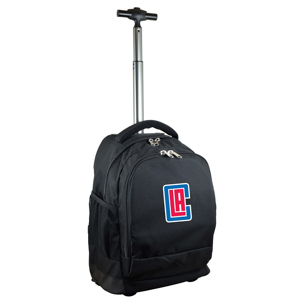 NBA Los Angeles Clippers Mojo Premium Wheeled Backpack - Black