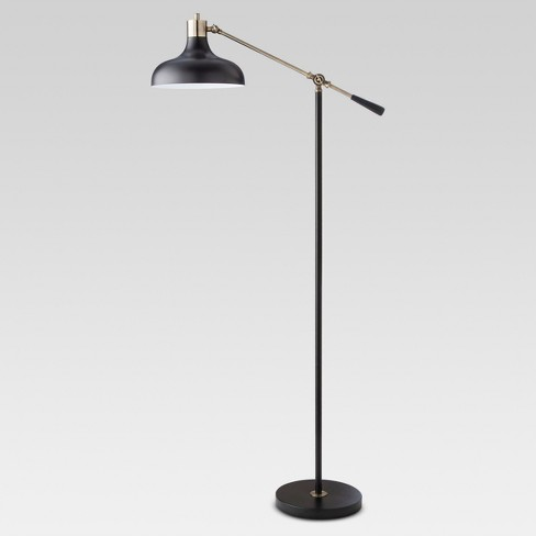 Crosby Schoolhouse Floor Lamp Black Includes Energy Efficient Light Bulb - Threshold™ - image 1 of 4
