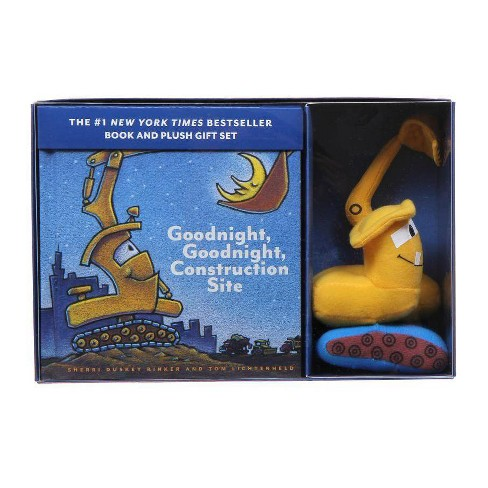 Goodnight, Goodnight, Construction Site Book and Plush Gift Set (Book and Toy) by Sherri Duskey Rinker, Tom Lichtenheld - image 1 of 1