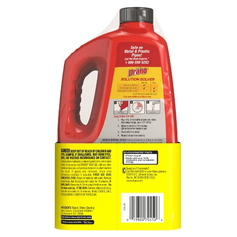 Drano Max Clog Remover Twin Pack 160oz : Target