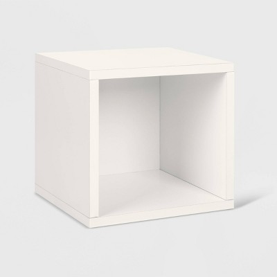 Way Basics Stackable Cube Storage Cubby Organizer White