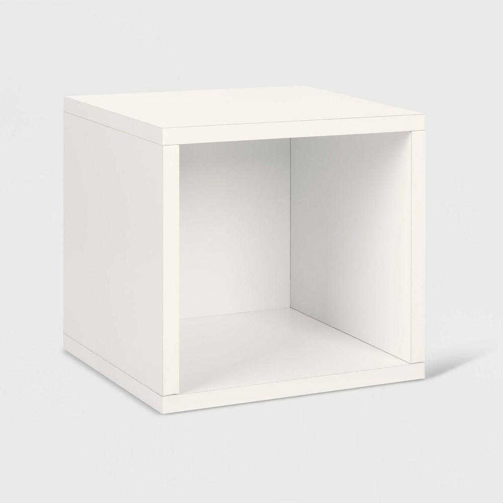 Way Basics Stackable Cube Storage Cubby Organizer White