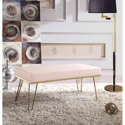 Aldelfo Bench Blush - Chic Home Design