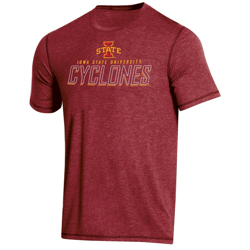 NCAA Men's Short Sleeve Poly T-Shirt Iowa State Cyclones - XL, Multicolored