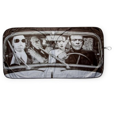 Surreal Entertainment Universal Monsters Sunshade for Car Windshield | 64 x 32 Inches
