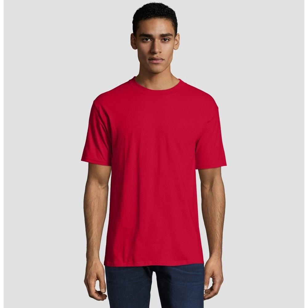 Hanes Men's Big & Tall Short Sleeve Beefy T-Shirt - Deep Red 4XL