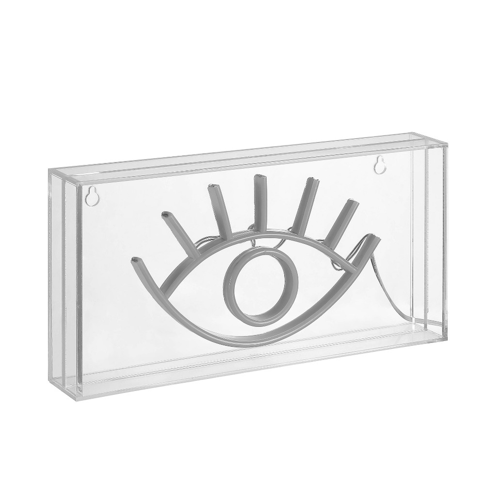 11 8 34 Led Eye Contemporary Glam Acrylic Box Pendant Neon Yellow Jonathan Y