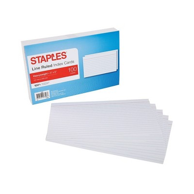 Staples 5X8 HVY LND INDXCRD WHT 100CT 2622137