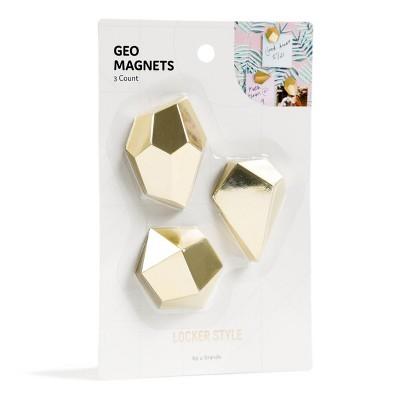 3pk Geo Locker Magnets   Locker Style By U Brands by Locker Style By U Brands