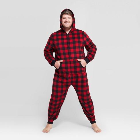 Men's Big & Tall Buffalo Plaid Fleece - Wondershop™ Red - image 1 of 4