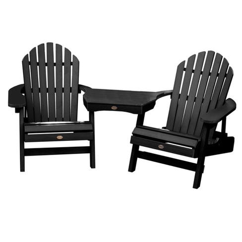 Hamilton Folding & Reclining Adirondack Chair 2pk with Adirondack  Tete-a-Tete Table - Highwood - Hamilton Folding & Reclining Adirondack Chair 2pk... : Target
