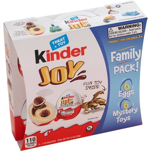 Kinder Joy Sweet Cream Topped with Cocoa Wafer Bites Chocolate Treat + Toy 6ct
