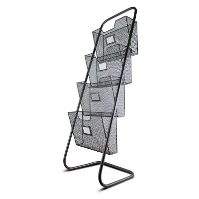Metal Magazine Rack with Four Compartments - E2