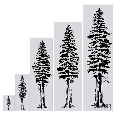 "Stencil1® Redwood Tree - Wall Stencil 24"" x 72"" - image 1 of 3"