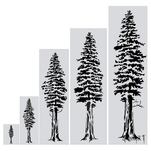 """Stencil1® Redwood Tree - Wall Stencil 24"""" x 72"""" - image 1 of 3"""