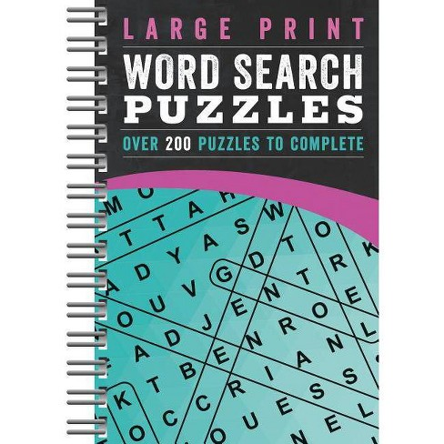 Large Print Word Search Puzzles - (Spiral_bound) - image 1 of 1