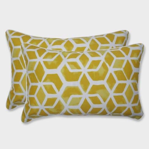 2pk Celtic Pineapple Rectangular Throw Pillows Yellow - Pillow Perfect - image 1 of 1