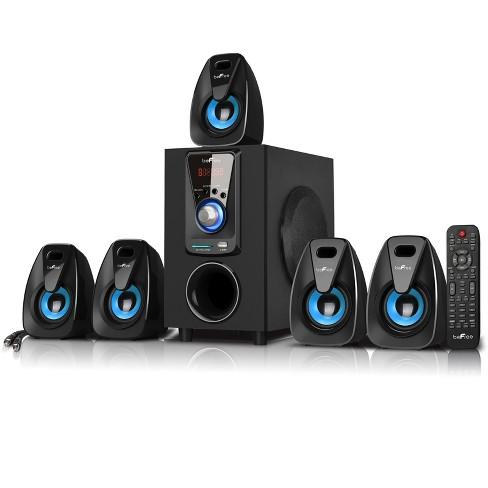 beFree Sound 5.1 Channel Bluetooth Surround Sound Speaker System in Blue - image 1 of 4
