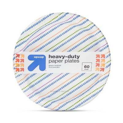 """Heavy Duty Disposable Printed Plates 8.5"""" - 60ct - Up&Up™"""