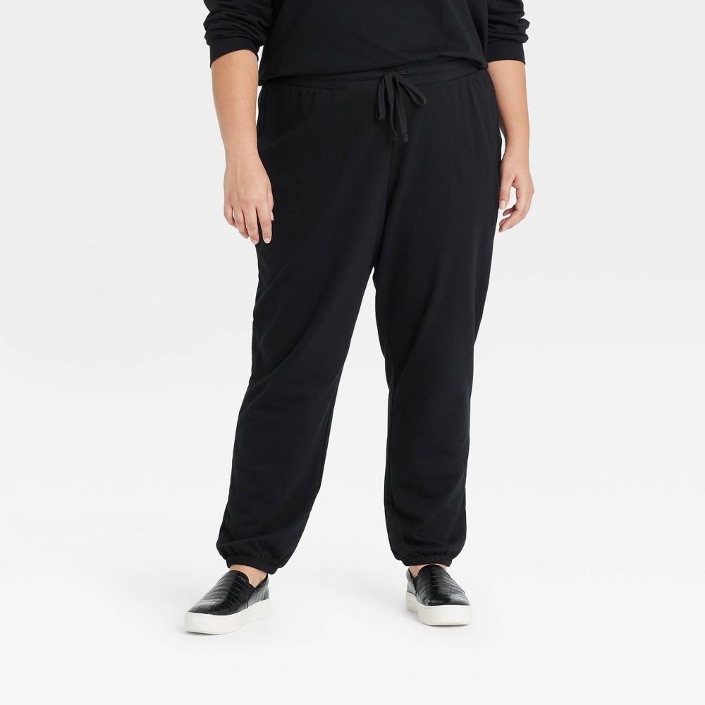 Women 39 S Plus Size Jogger Pants Ava 38 Viv 8482 Black 2x