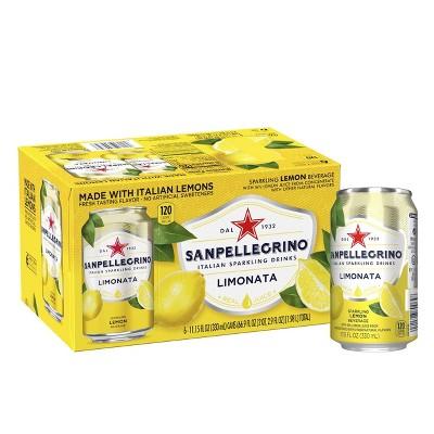 Sanpellegrino Sparkling Fruit Beverages Limonata/Lemon - 6pk/11.15 fl oz Cans