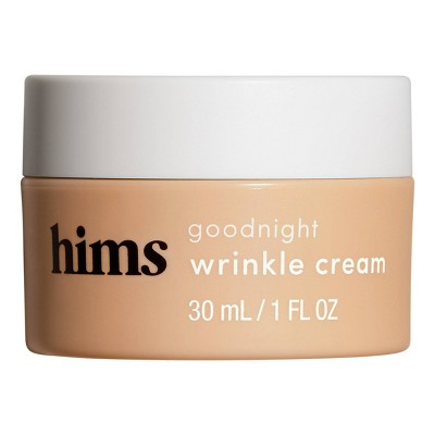 hims Goodnight Wrinkle Cream - Caffeine-infused Moisturizer and De-puffer - 1 fl oz