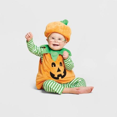 Baby Plush Pumpkin Halloween Costume Vest - Hyde & EEK! Boutique™ - image 1 of 1