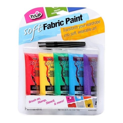 Tulip 5ct Soft Fabric Paint - Primary Colors - image 1 of 2
