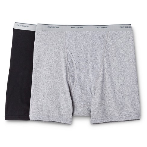 Fruit of the Loom Men's Big & Tall 2pk Big Man Boxer Briefs - Black/Gray - image 1 of 1