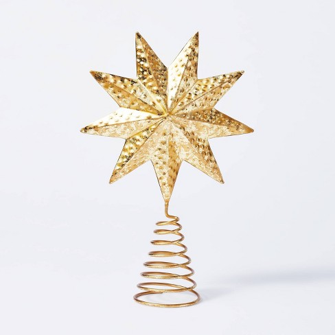 Gold Star Tree Topper - Threshold™ designed with Studio McGee - image 1 of 4