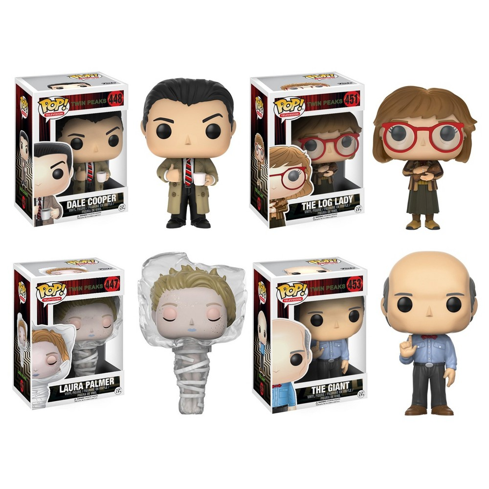 Funko Television Pop! Twin Peaks Collectors Set: Agent Copper, Log Lady, Laura in plastic wrap, Giant