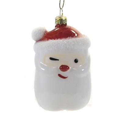 "Holiday Ornament 3.75"" Wink & Nod Santa Christmas St Nick Flock  -  Tree Ornaments"