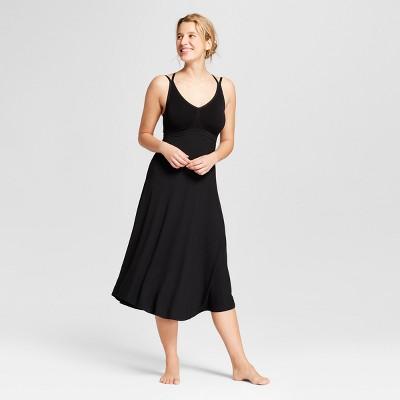 Women's Total Comfort Seamless Pajama Nightgown - Gilligan & O'Malley™ Black XS