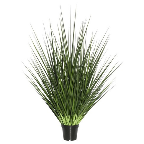 "Artificial Extra Full Grass Potted (24"") Green - Vickerman - image 1 of 1"