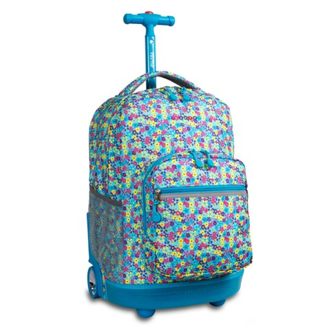 "J World 18"" Sunrise Rolling Backpack - Floret - image 1 of 2"