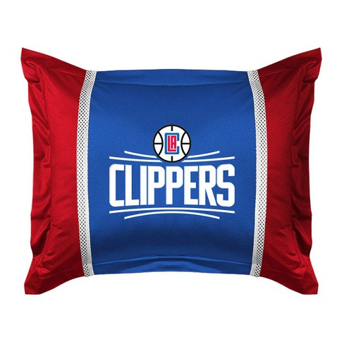 Nba Pillow Sham La Basketball Team Logo Bedding Accessory Los Angeles Clippers Target