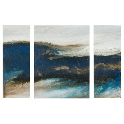 Rolling Waves Gel Coated Canvas-3 Piece Set