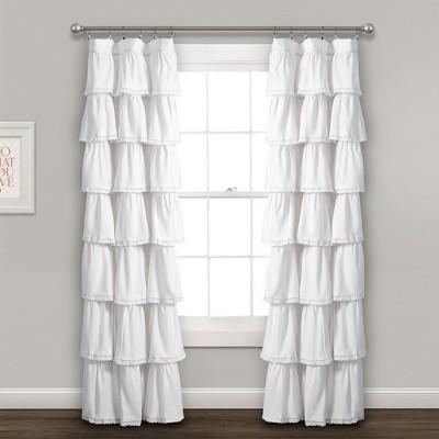 "52""x84"" Ruffle Window Curtain Panel - Lush Décor"