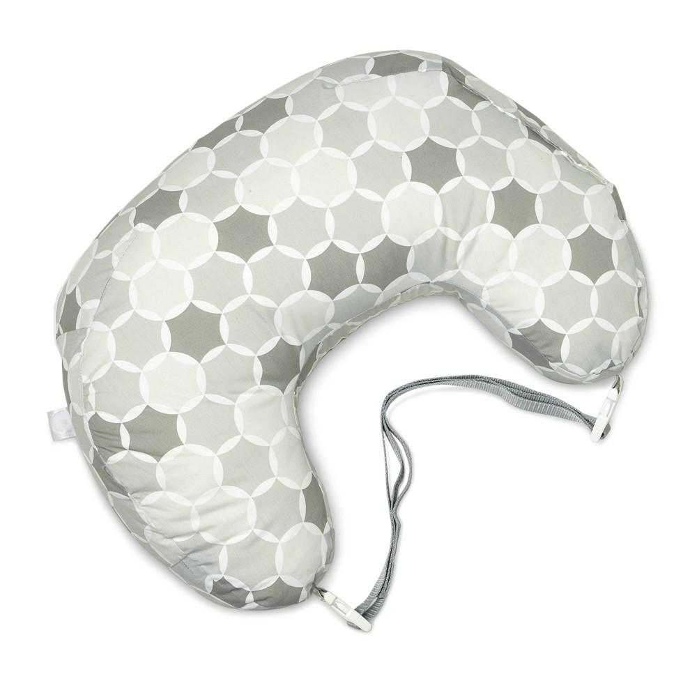 Image of Boppy Best Latch Nursing Pillow Gray Circles