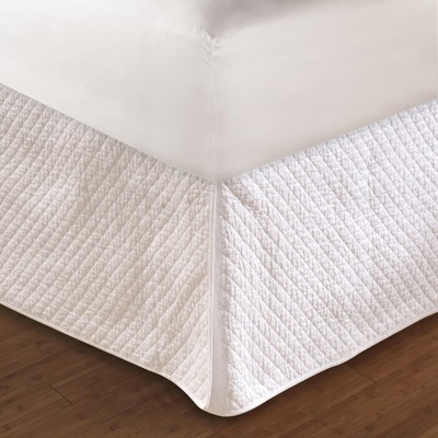 """Greenland Home Fashion White Diamond Bed Skirt 18"""" Quilted"""