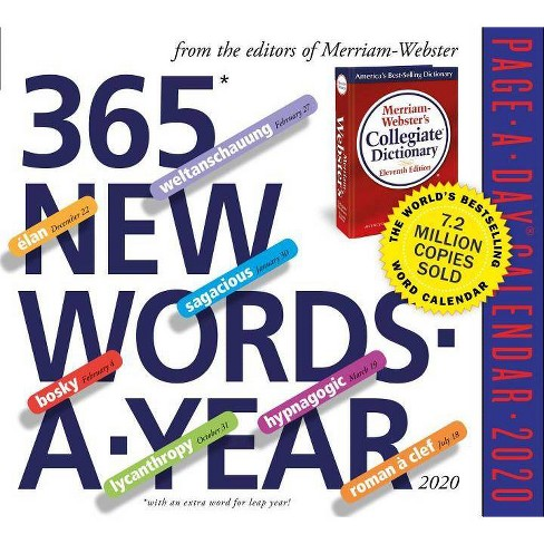 New Words 2020 365 New Words A Year Page A Day Calendar 2020 : Target