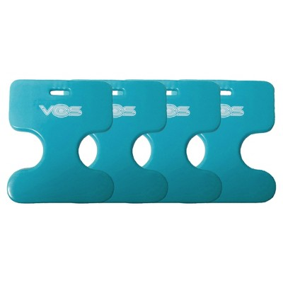 Vos Oasis Water Saddle Swimming Pool Float Lounge Seat for Adults & Kids, Made with UV Resistant Foam for Single Rider Floating, Barrier Blue (4 Pack)