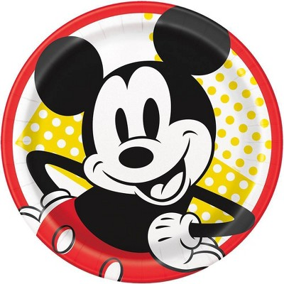"Mickey Mouse & Friends 9"" 8ct Disposable Dinner Plates"