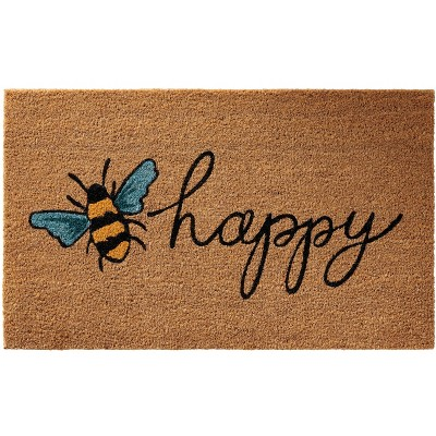 "Nourison Casa Bella NC461 Bee Happy Door Mat - Multicolor 1'6""X2'6"""