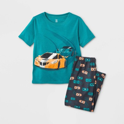 Boys' 2pc Race Car Pajama Set - Just One You® made by carter's Teal