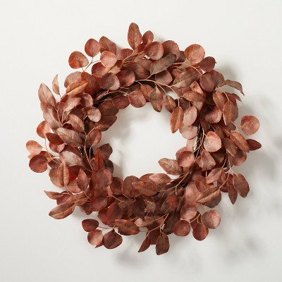 Faux Rusted Eucalyptus Plant Wreath - Hearth & Hand™ with Magnolia