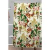 Baroque Flower Bouquet I Shower Curtain Green - Deny Designs - image 2 of 4