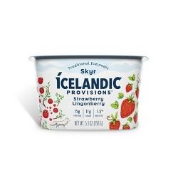 Icelandic Provisions Strawberry Lingonberry Skyr Yogurt - 5.3oz