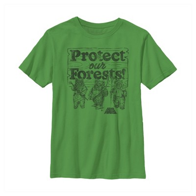 Boy's Star Wars Ewok Protect Our Forests T-Shirt